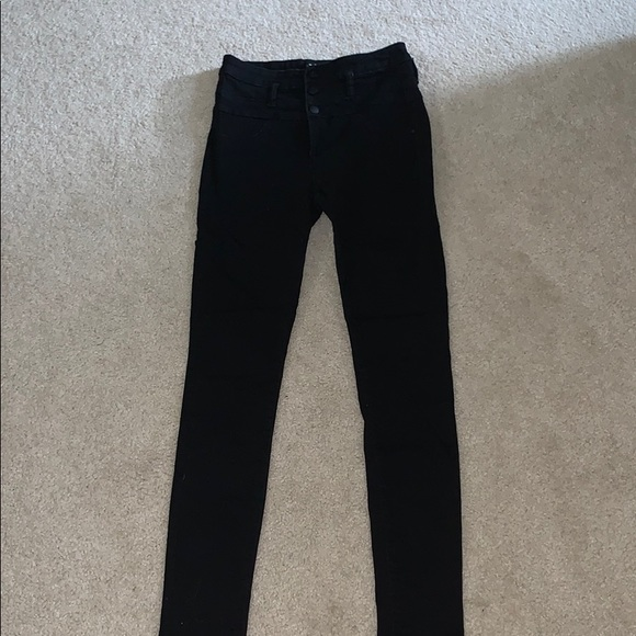 Charlotte Russe Denim - Black High Waisted Skinny Jeans